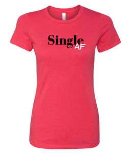 red single AF crewneck women's tee