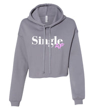 Load image into Gallery viewer, grey single AF cropped hoodie