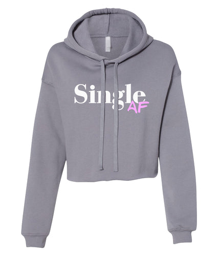 grey single AF cropped hoodie
