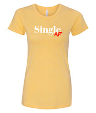 Load image into Gallery viewer, yellow single AF crewneck women's tee