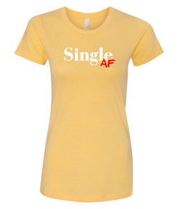 yellow single AF crewneck women's tee