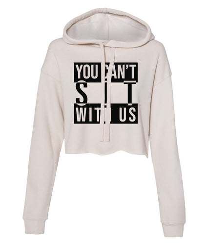 dust sit with us cropped hoodie