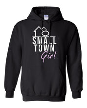 Load image into Gallery viewer, black small town girl hoodie