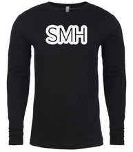 Load image into Gallery viewer, black smh mens long sleeve shirt