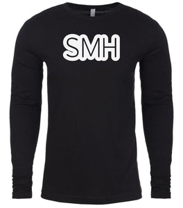 black smh mens long sleeve shirt
