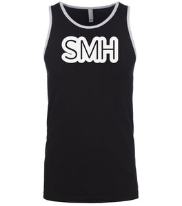 black smh mens tank top