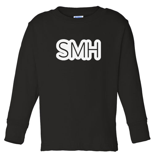 black SMH long sleeve t shirt for toddlers