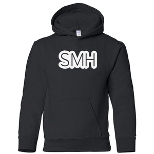 black SMH youth hooded sweatshirt for boys