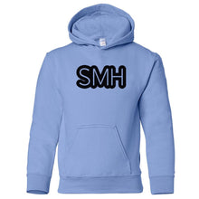 Load image into Gallery viewer, blue SMH youth hooded sweatshirts for girls