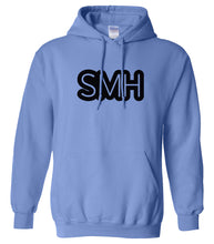 Load image into Gallery viewer, blue SMH hooded sweatshirt for women