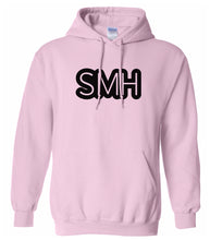 Load image into Gallery viewer, pink SMH hooded sweatshirt for women