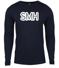 Load image into Gallery viewer, navy smh mens long sleeve shirt