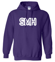 Load image into Gallery viewer, purple SMH hooded sweatshirt for women
