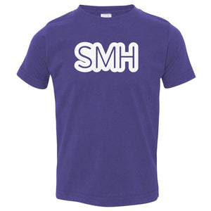 purple SMH crewneck t shirt for toddlers
