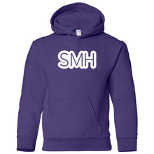 Load image into Gallery viewer, purple SMH youth hooded sweatshirts for girls