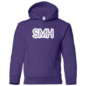 purple SMH youth hooded sweatshirts for girls