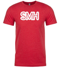 Load image into Gallery viewer, red smh mens crewneck t shirt