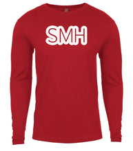 Load image into Gallery viewer, red smh mens long sleeve shirt