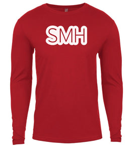 red smh mens long sleeve shirt