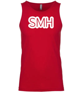 red smh mens tank top