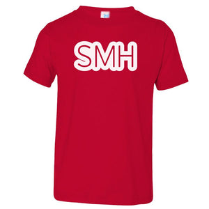 red SMH crewneck t shirt for toddlers