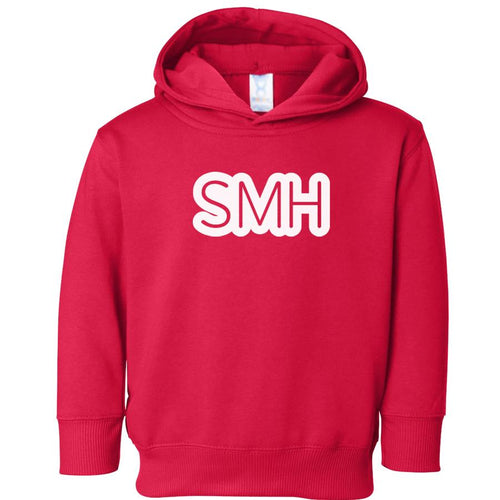 red SMH hooded sweatshirt for toddlers