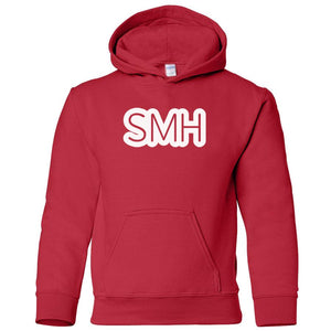 red SMH youth hooded sweatshirt for boys