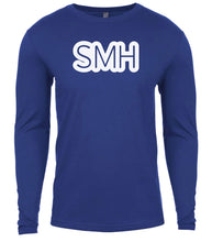 Load image into Gallery viewer, blue smh mens long sleeve shirt