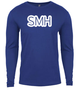 blue smh mens long sleeve shirt
