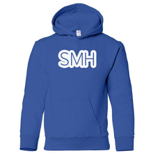 Load image into Gallery viewer, blue SMH youth hooded sweatshirt for boys