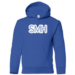blue SMH youth hooded sweatshirt for boys