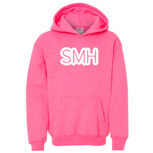 Load image into Gallery viewer, pink SMH youth hooded sweatshirts for girls