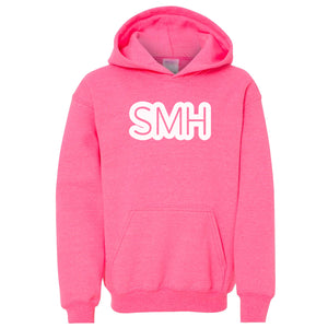 pink SMH youth hooded sweatshirts for girls