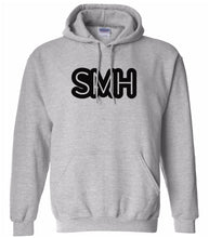 Load image into Gallery viewer, grey SMH hooded sweatshirt for women