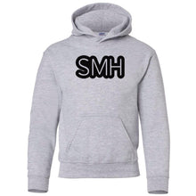 Load image into Gallery viewer, grey SMH youth hooded sweatshirt for boys