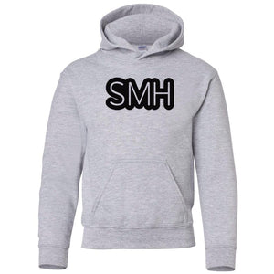 grey SMH youth hooded sweatshirt for boys