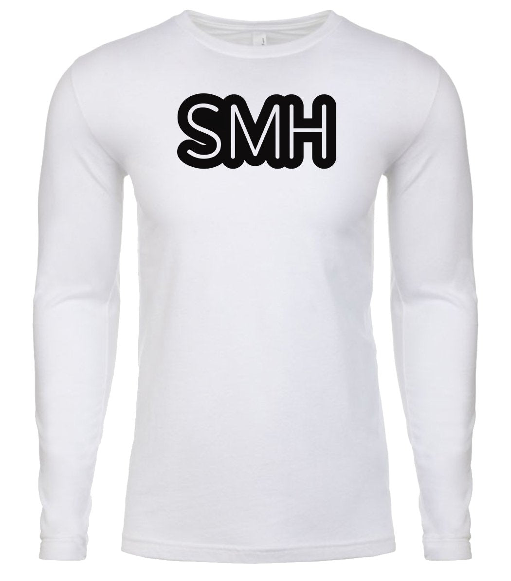 white smh mens long sleeve shirt