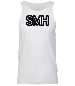 white smh mens tank top