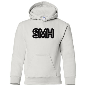white SMH youth hooded sweatshirt for boys
