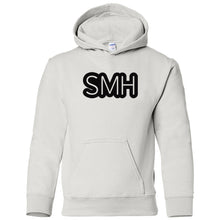Load image into Gallery viewer, white SMH youth hooded sweatshirts for girls