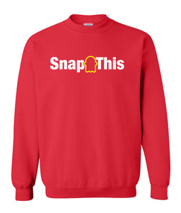 red snap this sweatshirt