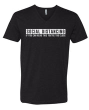 Load image into Gallery viewer, social distancing v-neck t-shirt