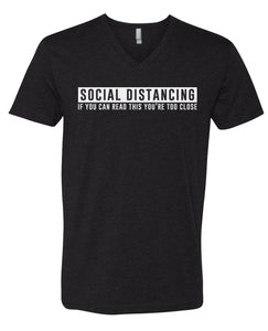 social distancing v-neck t-shirt