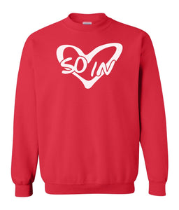 red so in Love couples valentines day sweatshirt