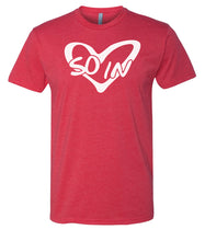 Load image into Gallery viewer, red so in love Valentine's day couples t-shirt