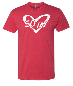 red so in love Valentine's day couples t-shirt