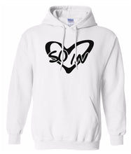 Load image into Gallery viewer, white so in Love matching couples valentines day hoodie
