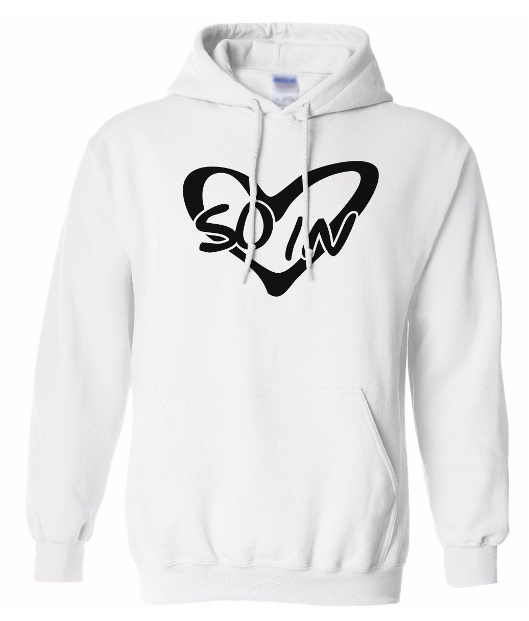 white so in Love matching couples valentines day hoodie