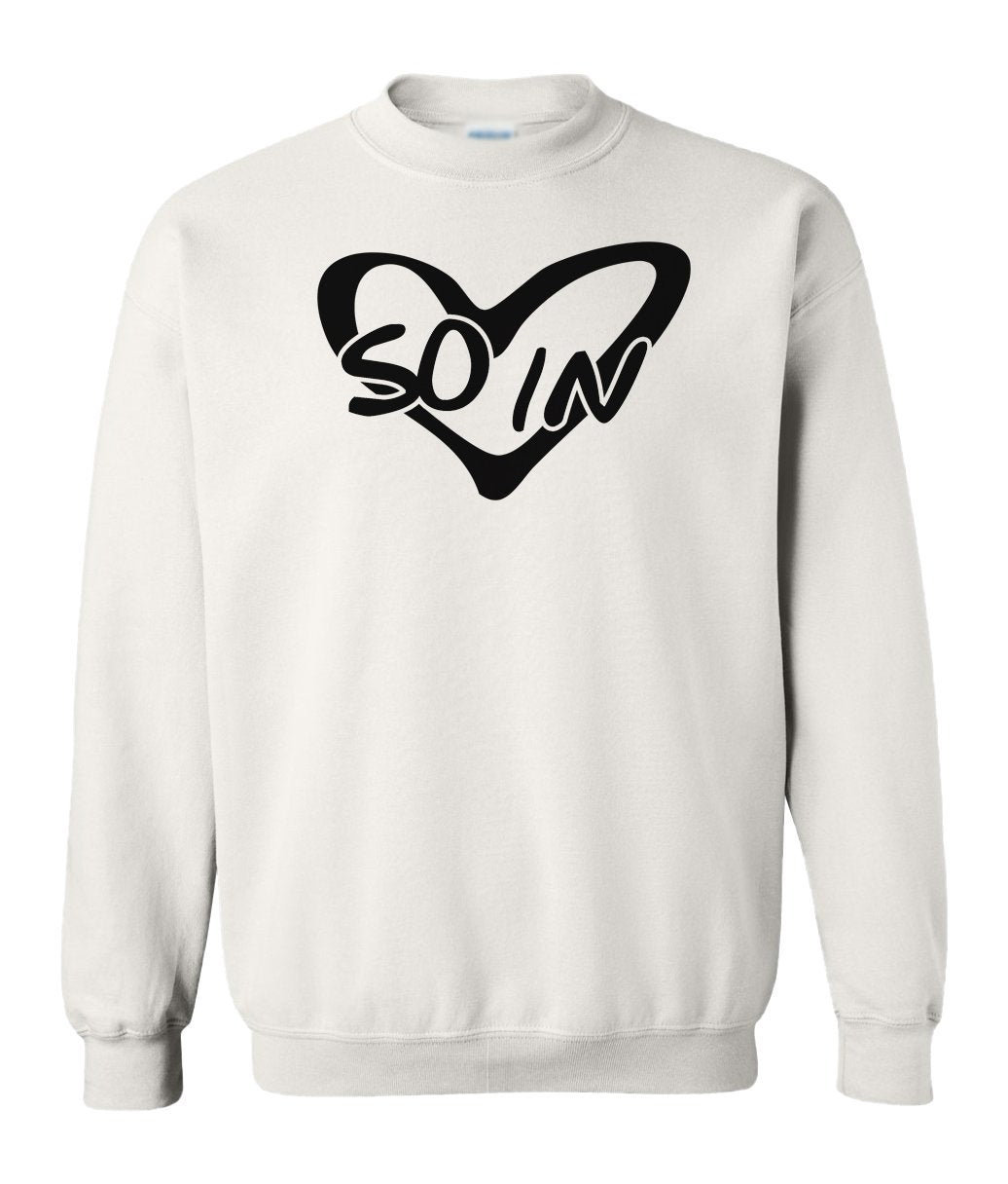 white so in Love couples valentines day sweatshirt