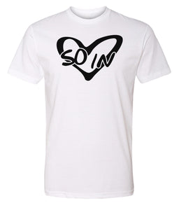 white so in love Valentine's day couples t-shirt